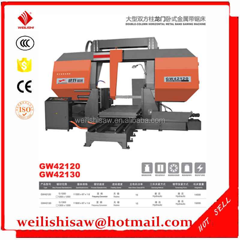 H-1200 Double-column Horizontal Metal Cutting Machine GW42120 sawing Machine