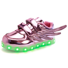 Kids Flashing Lights Shoes Usb Charger With led light up children shoes