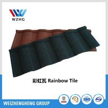 Roof tile, light weight color stone cladding metal roofing sheet roof tile