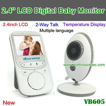Two way talk 2.4 inch wireless video baby monitor 2.4GHz with IR Nightvision Temperature