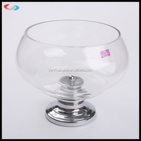 clear ball shape glass plate /food reserve bowl