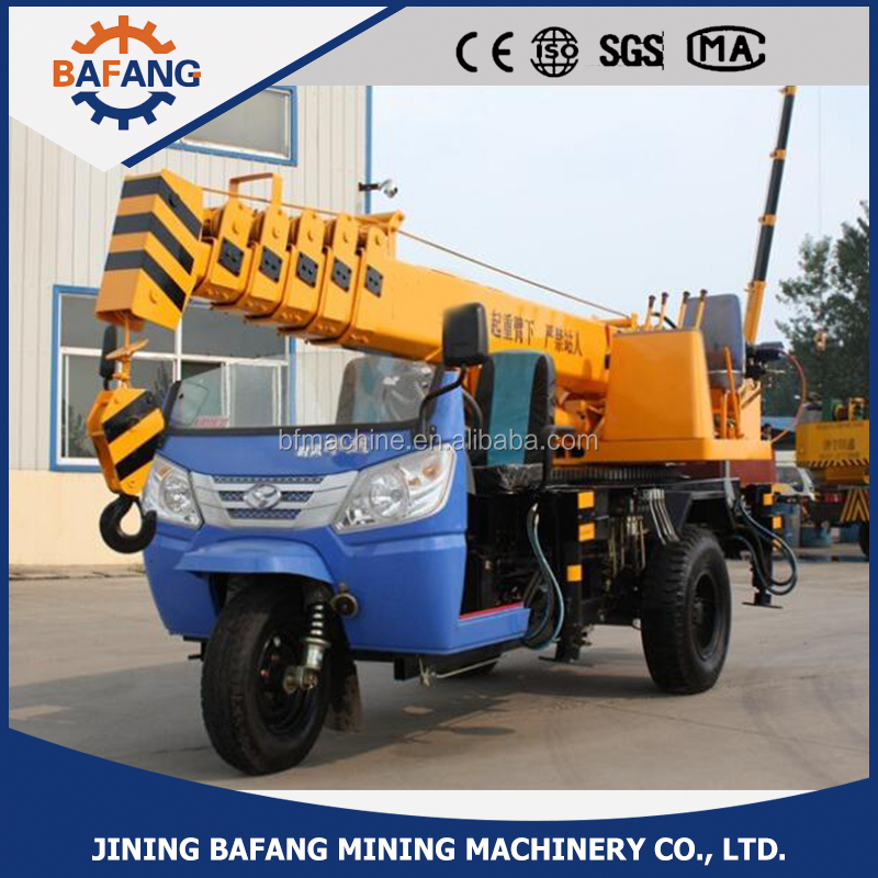 3T Outrigger Crane Mounted on Tricycle Chassis for sale/ lifting truck crane