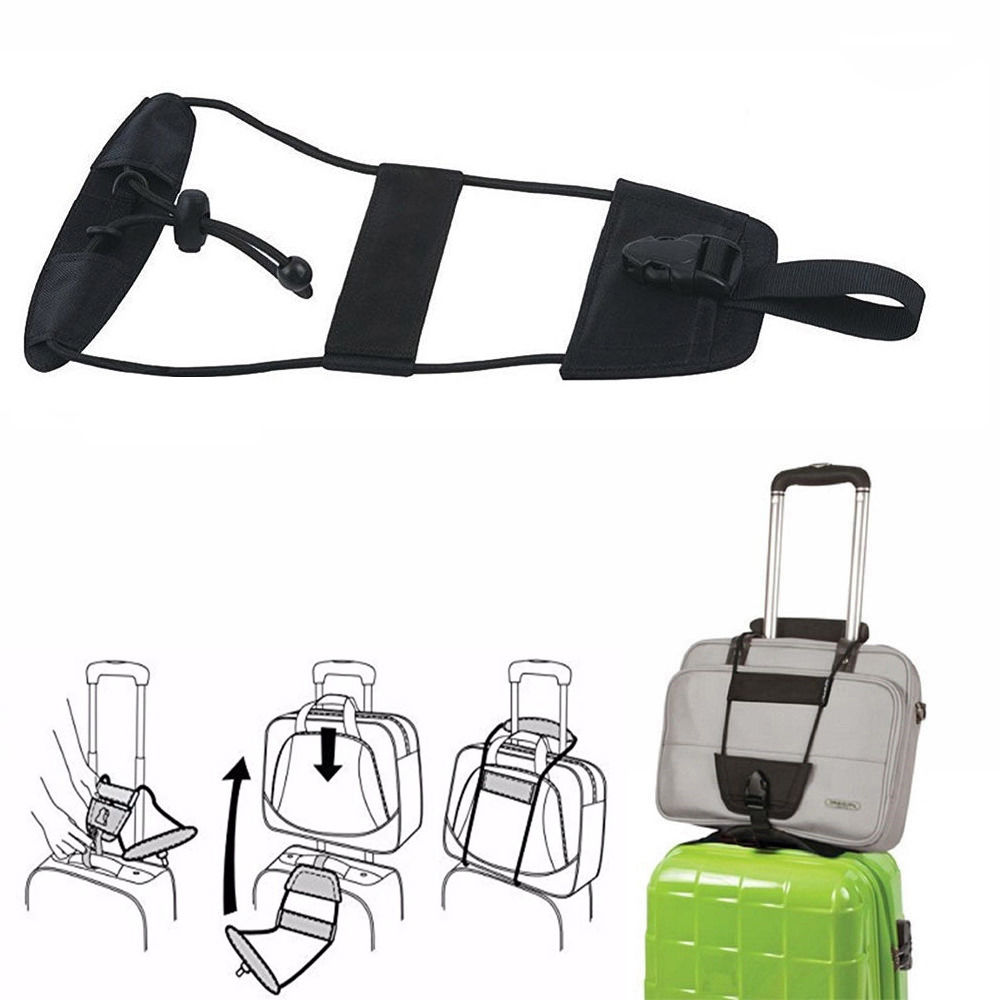 Wholesale Add A Bag Strap Travel Luggage Suitcase Adjustable Belt Carry On Bungee Strap
