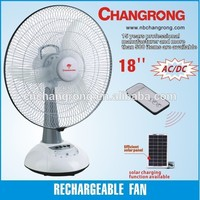 rechargeable battery operated electric fan with light & charger