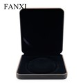 FANXI Luxury Velvet Button Jewelry Boxes For Wedding Pearl Beed Holder Packaging Custom Logo Large Necklace Box