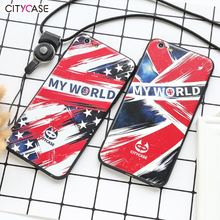 Print Flag cellphone case cover for iphone 6 6S 6P tpu