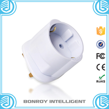 Fire retardant 13A 250v euro schuko 2 round pole electrical accessories male to female socket plug