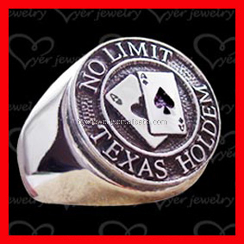 Wholesale stainless steel main custom logo engraved blank signet ring