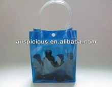 Transparent pvc wine bag with ice cube