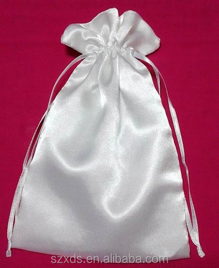 Round Bottom Pouch Bags /Silk Hair Extensions Satin Drawstring Bag