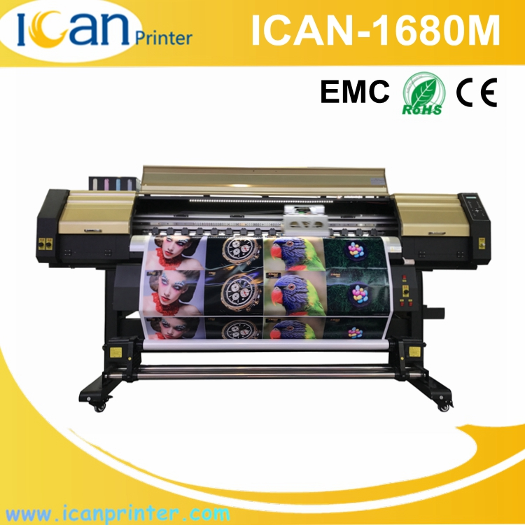 Multicolor 1.68m double dx5 / dx7 / 5113 heads wit color large wide format solvent printer