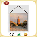 hot selling small size painting with lighthouse design for home wall decor