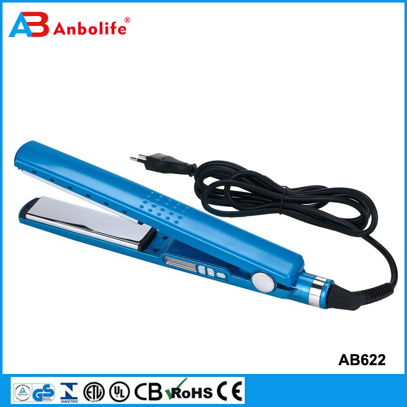 Anbolife professional digital ceramic CE certification hair straightener hair flat iron