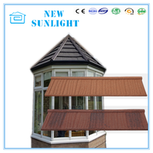 heat insulate corrugated galvanized zinc stone coated metal roof material