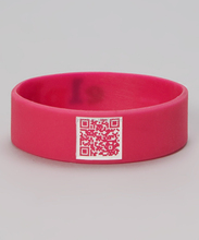 Factory directly printed qr code silicone wristbands scannable qr code silicone bracelets