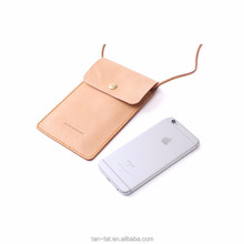 Genuine Leather Phone Case Neck Bag Neck Pouch