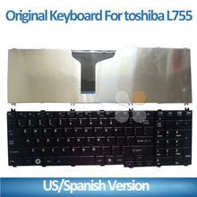 2015 New Laptop keyboard for Toshiba C650 C655 C655D C660 L650 L655 L670 L675 L750 L755 laptop keyboard Black US Version