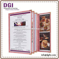 Hong Kong supplies provided high quality table top / A4 restaurant pu menu/ folder leather design