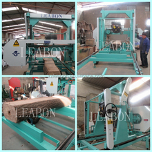 LEABON MJ1000 portable swing blade sawmill for hard wood
