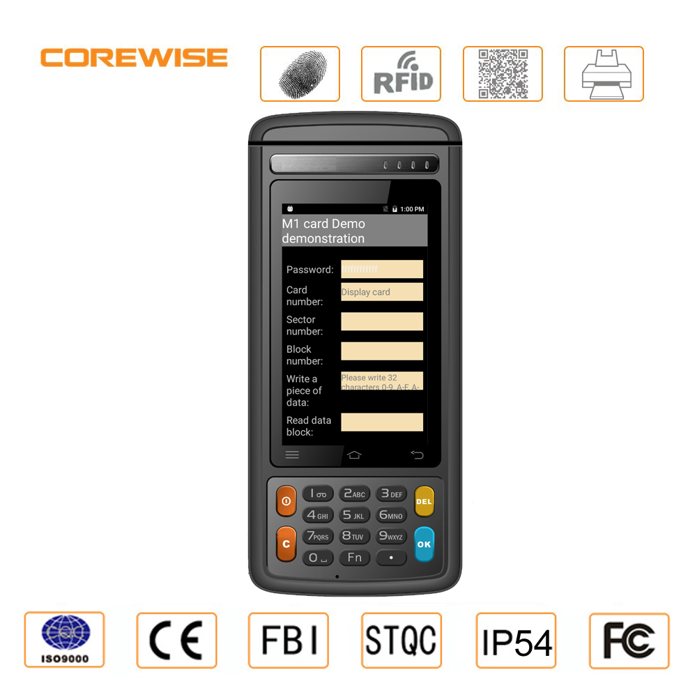 Android 6.0 4G LTE Industrial 4 Inch IP54 smart mobile rugged pda with thermal printer
