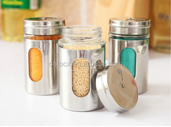 High quality stainless steel spice sugar salt pepper herb toothpick storage bottle