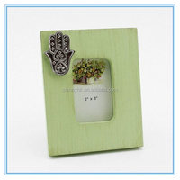 Shinny Gifts 2x2 wood natural photo picture frame for presents SCF00002