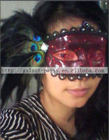 Factory 2014 sexy new lace face mask peacock feather dance mask lace masquerade mask and for all party and festival