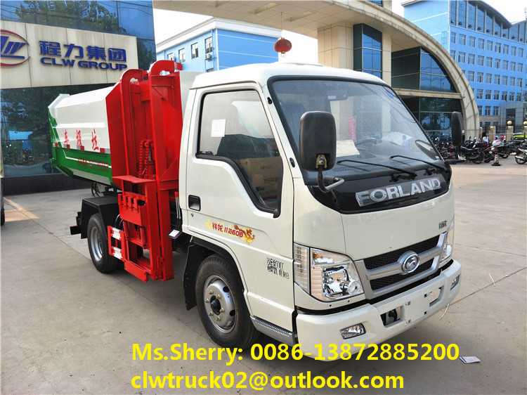2017 brand new Foton 3m3 mini hydraulic lifter garbage truck for sale in Vietnam