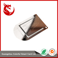 Best sell metal name card / name plate card / metal tags with card