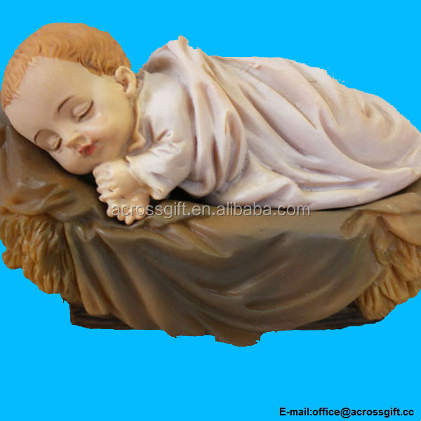 Baby Jesus Nativity Bambino Sleeping Resin Statue