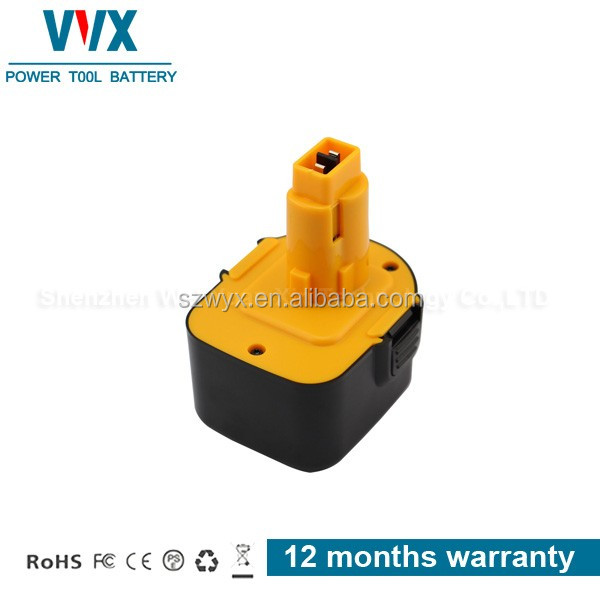 High quality 12V 3Ah Ni-mh Power Tool Battery Rechargeable for Dewalt Replacement DW981KQ