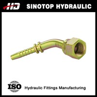 hydraulic pump rotating pipe brass elbow hose barb fitting