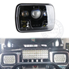 Emark DOT approval square 5x7 inch car led headlight Hi/Lo beam with DRL for Jeep JY TY off road trucks Har-ley