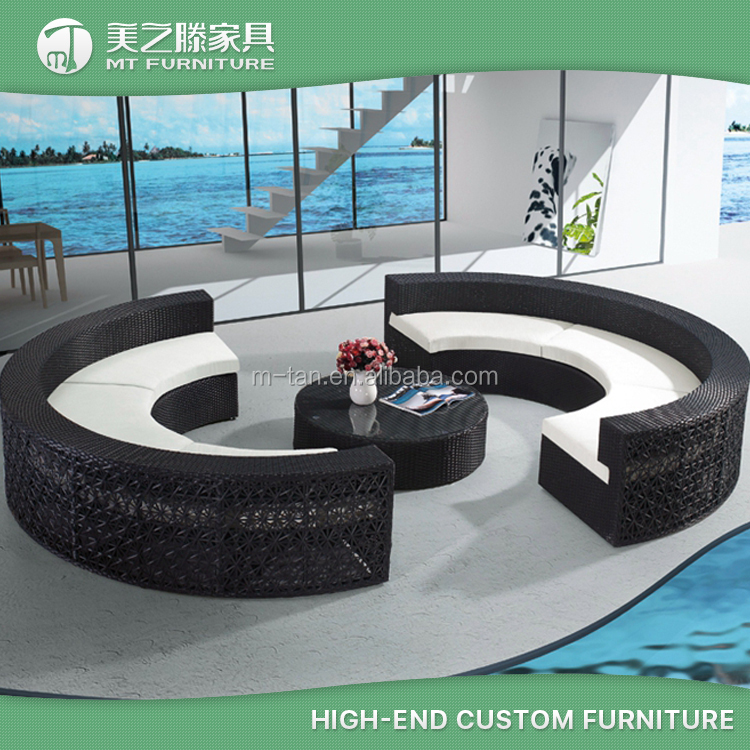 2016 new design modern plastic rattan round sectional sofa - Practical and affordable contemporary plastic garden furniture ...