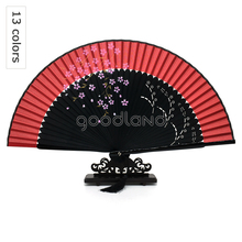 Amazon eBay Aliexpress Chinese Japanese fabric fan, cheap cloth silk fabric dancing hand fans for wedding