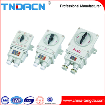 BHZ51 60A industrial changeover switch 380v three phase explosion proof transfer switches