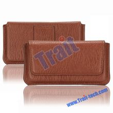 Useful Leather Universal Cell Phone Belt Clip Holster Case for Samsung Galaxy S3/S4/S5, etc