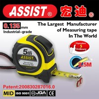 Europe hot abs case with rubber jacket auto lock nylon wrap and have led light measure tape from China