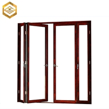 Wholesale aluminum 4 panel fold slide patio glass door