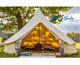 5m luxury glamping cotton canvas bell tent outdoor glamping tent