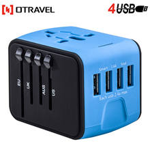 Great travel gift International Power Plug Adaptor with safety fuse