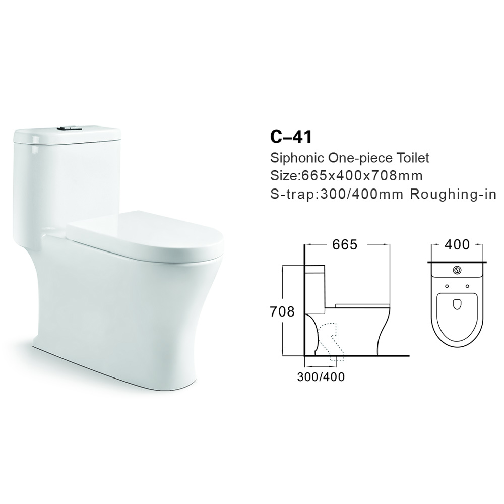 C-41 Foshan Ceramic Sanitary Ware Water Closet China Siphonic WC Toilet