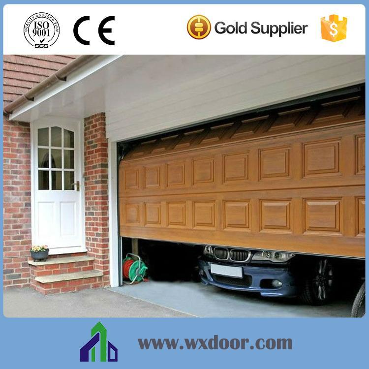 Decorative steel garage sliding screen door