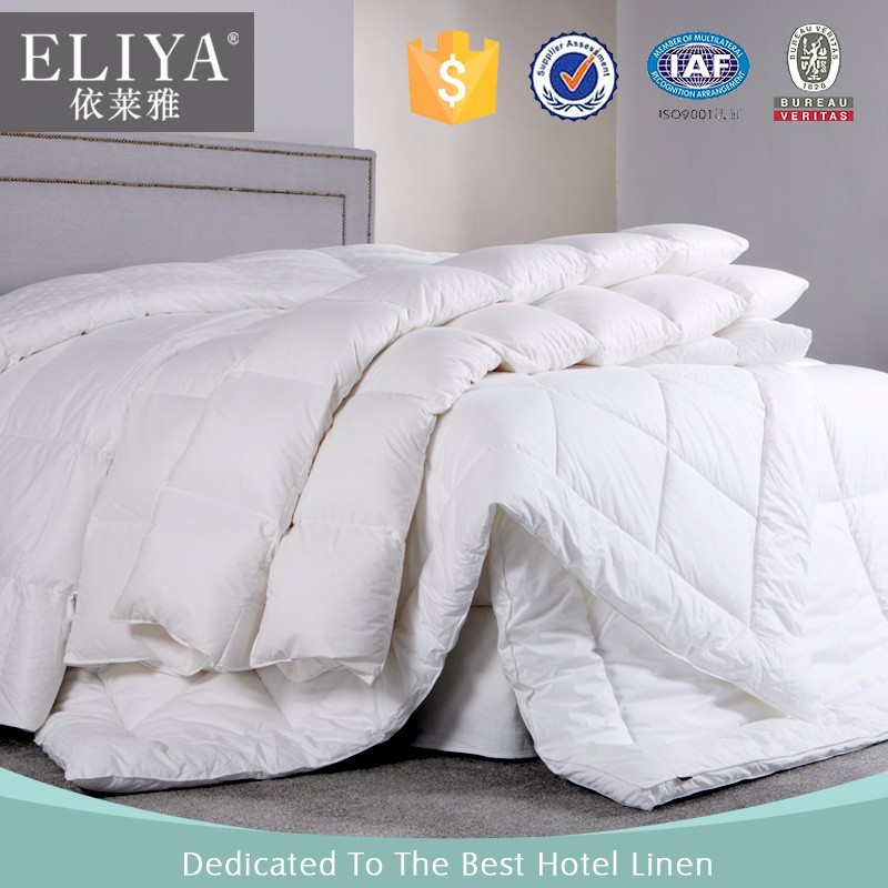 BV certified 100 cotton white wholesale hotel down comforter