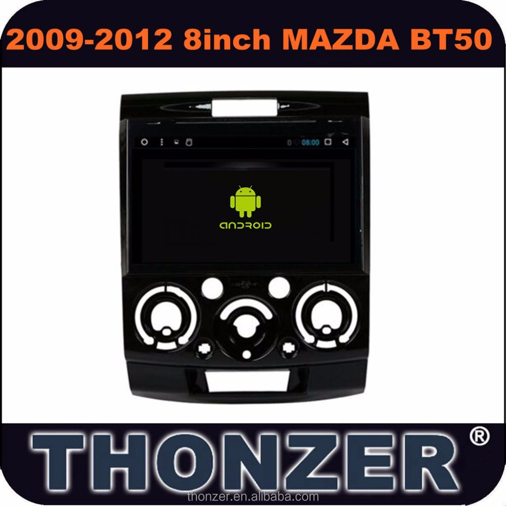8 inch Pure Android 6.0 Car Audio player with GPS for Mazda BT50 (2009- 2012) support 4G without DVD