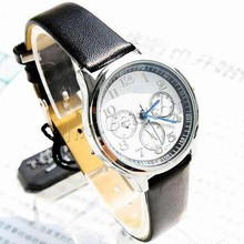 Leather Round Cool Mobile Phone Wrist Watch 703681