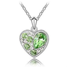Austrian crystal jewelry necklace-Soul date nice(olive)