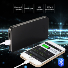Ultra Slim Multi-function portable Bluetooth speaker With 5200MAH Power Bank/USB Speaker/TF MP3 Player