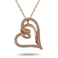 free shipping high quality zinc alloy rose gold plated crystal open heart necklace