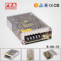 High efficiency power supply S-50-12 single output power supply 12v 50w 4.2a led driver